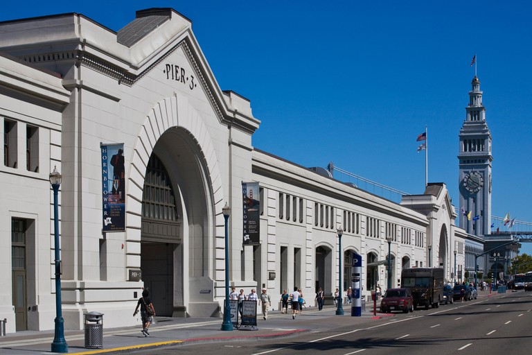The FERRY BUILDING MARKETPLACE and PIER 3 at THE EMBARCADERO - SAN FRANCISCO, CALIFORNIA