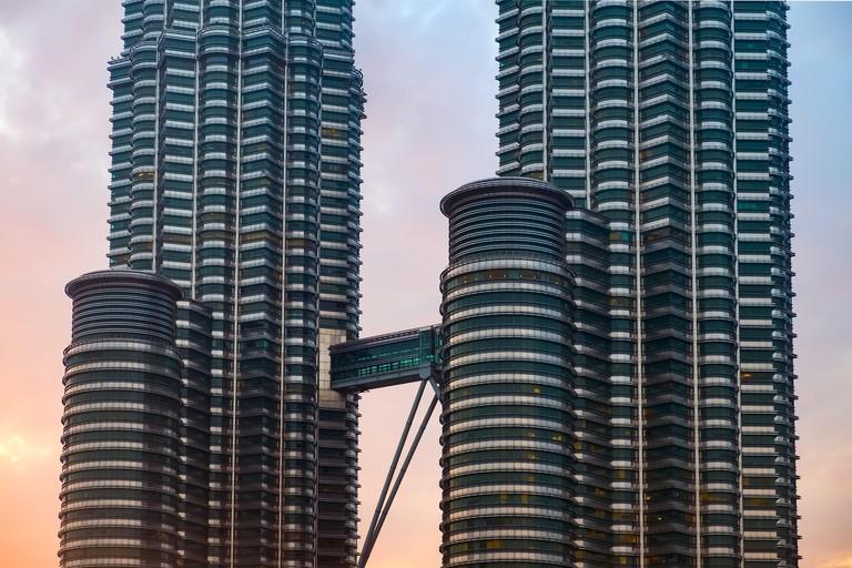 Bridge connecting Petronas Twin Towers, Kuala Lumpur, Malaysia