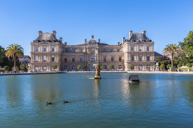 Luxembourg Palace in Jardin du Luxembourg, Paris, France.