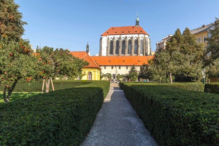 Franciscan Garden on the Church of Virgin Mary of the Snows, Prague.