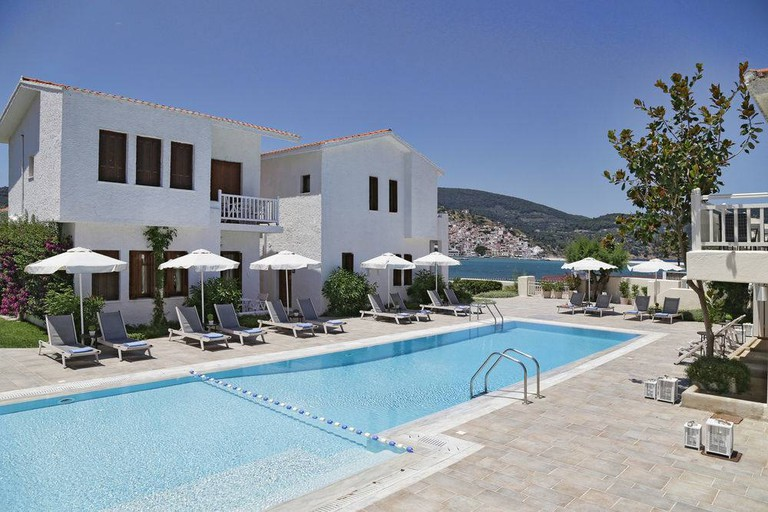 Skopelos Village Hotel is where the stars stayed