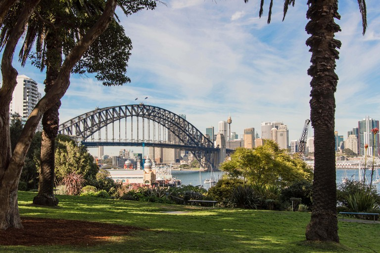 View of Harbour Bridge from Wendy's Secret Garden Sydney Australia