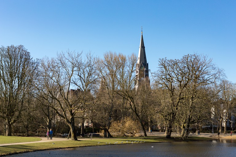The Vondelchurch at the Amsterdam Vondelpark in the Netherlands.