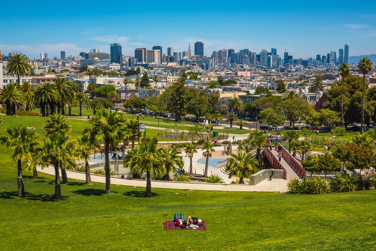 Mission Dolores Park. San Francisco. California, USA