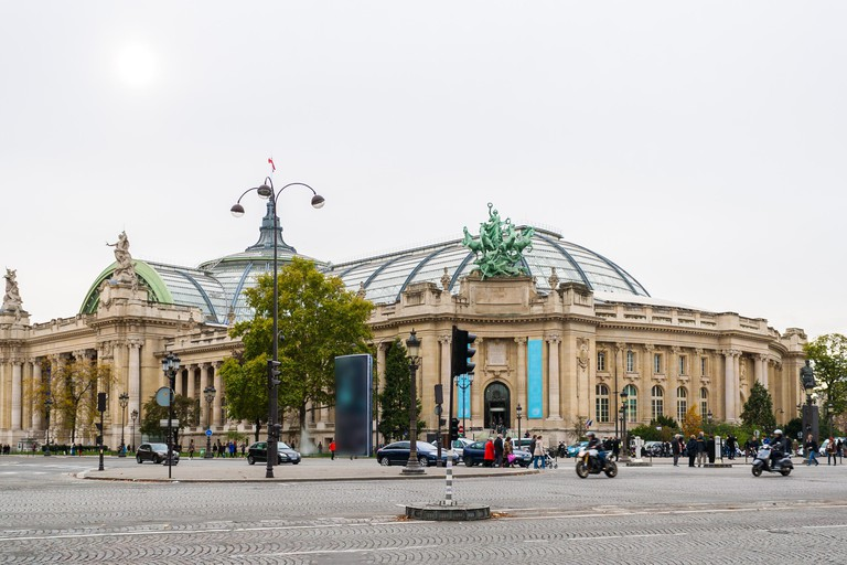 The Grand Palais is at located at the end of the Champs-Elysées
