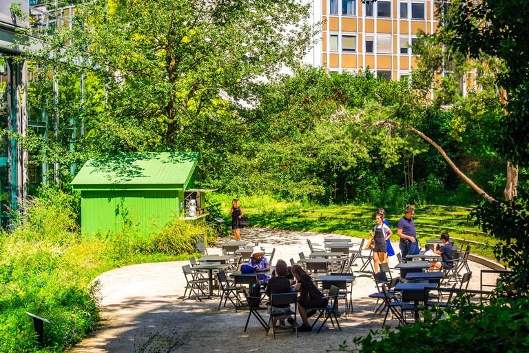 Fondation Cartier pour l'Art Contemporain garden in Paris, France