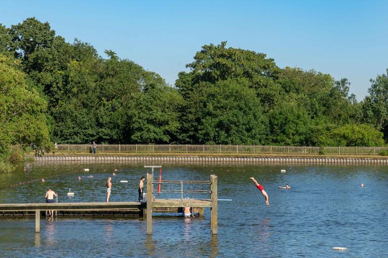 Hampstead Heath men's pond, London