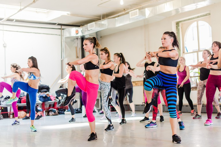 DanceBody founder Katia Pryce leads an energetic class