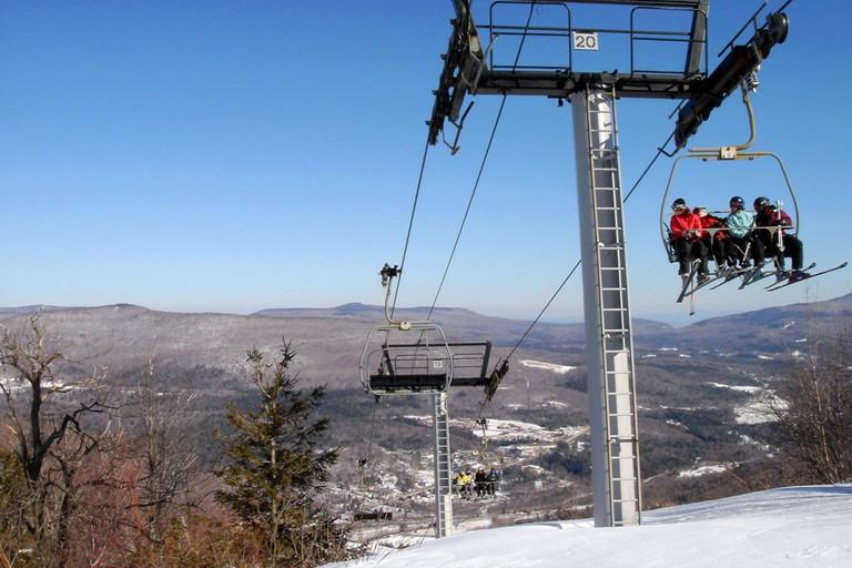 Skiing, the Hunter Mountain, NY.