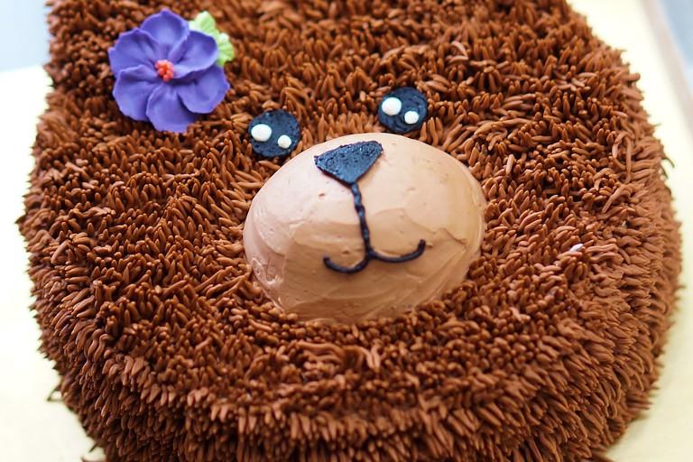 Teddy bear Birthday cakes with afternoon tea set