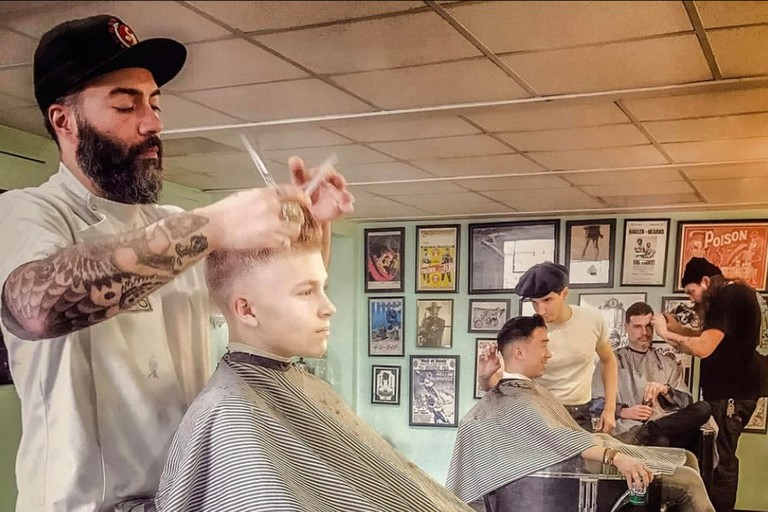 The Stepping Razor Barbershop specializes in classic cuts