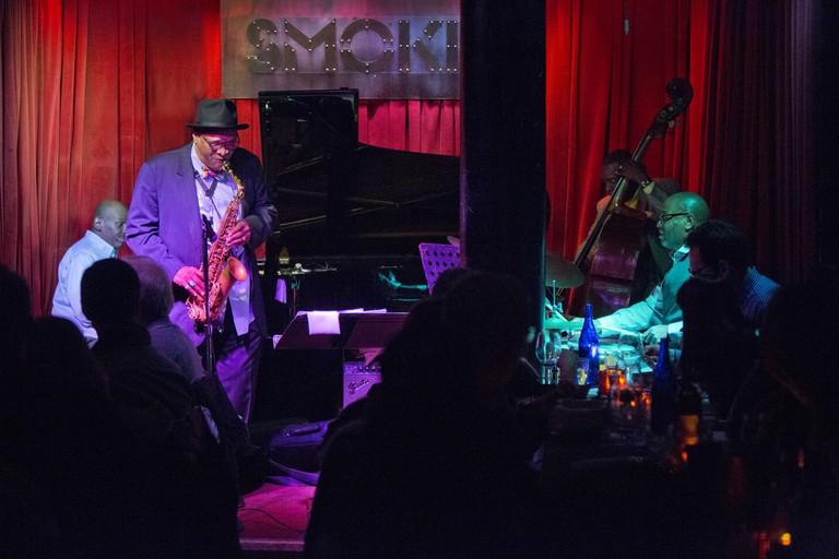 Smoke Jazz & Supper Club regularly hosts live music