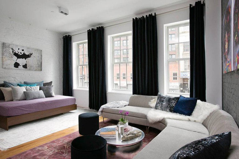 This two-bedroom in SoHo has a private terrace