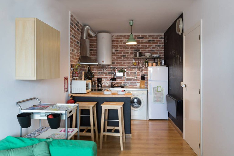 This flat offers great value for money in the centre of Santiago © Airbnb