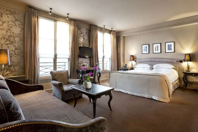 The Pavillon de la Reine has 56 bedrooms and suites