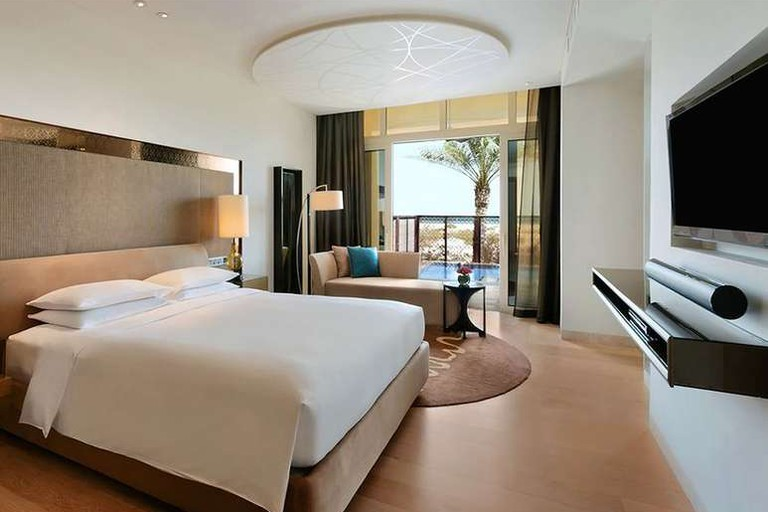 The Park Hyatt Abu Dhabi Hotel and Villas offer spacious rooms with terraces