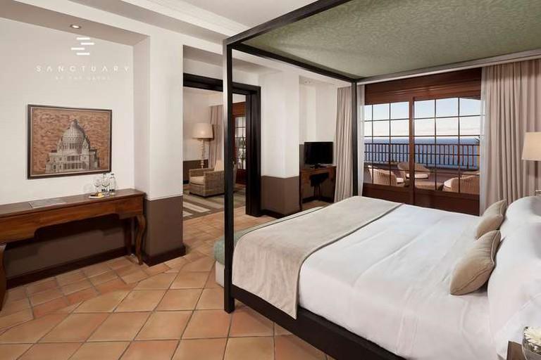 Guests at the Meliá Hacienda del Conde can enjoy views over the Atlantic Ocean