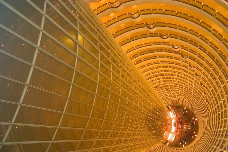 Hyatt Hotel inside the Jin Mao tower