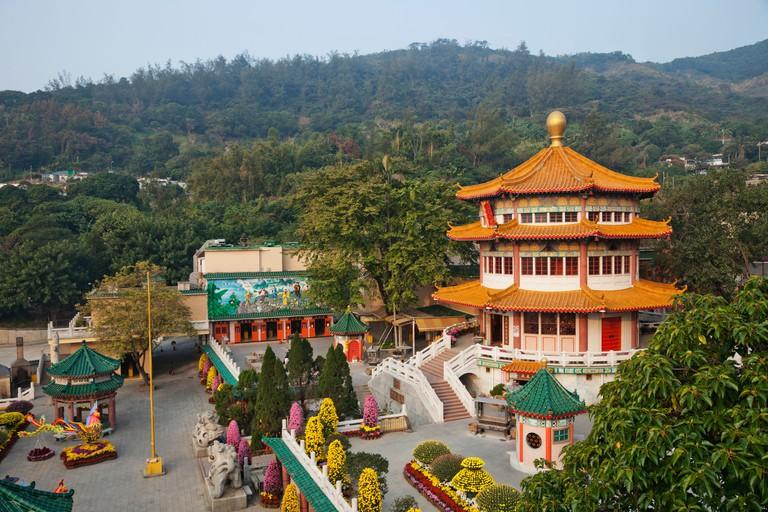 The Main Prayer Hall at Yuen Yuen Institute