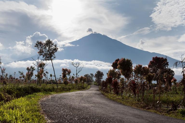 Mount Kerinci viewed from Pelompek, Sumatra, Indonesia.