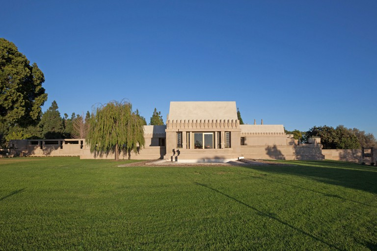 Frank Lloyd Wright's Hollyhock House in Barnsdall Art Park, Hollywood, Los Angeles