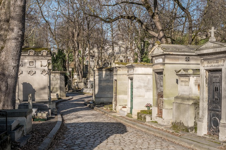 Père Lachaise Cemetery in Paris, France.