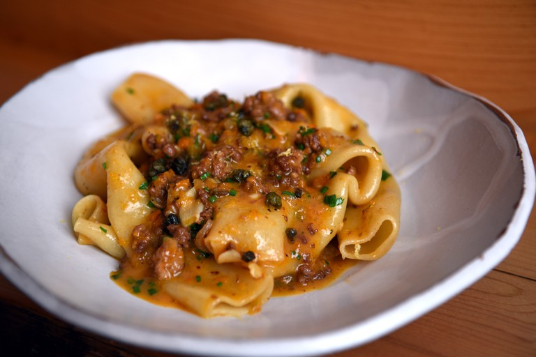 Faro Candele Pasta with Lamb Ragu