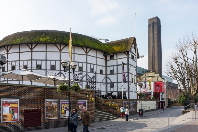 Shakespeare's Globe theatre at Bankside, London