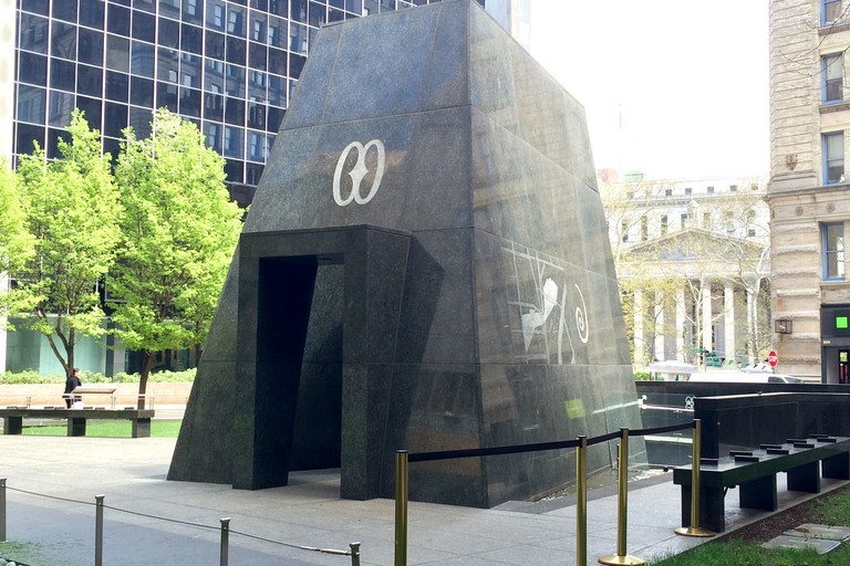 The Outdoor Memorial of the African Burial Ground National Monument in lower Manhattan