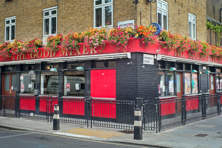 The Good Mixer pub on Inverness Street, Camden, London