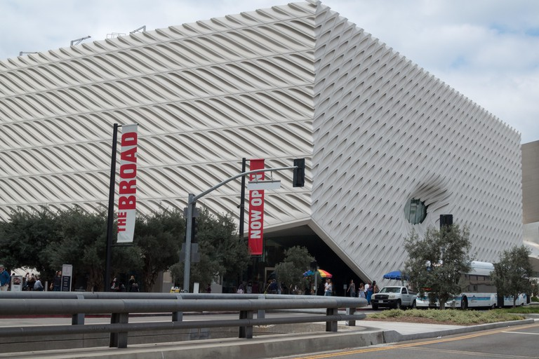 The Broad Museum in Los Angeles, CA, USA