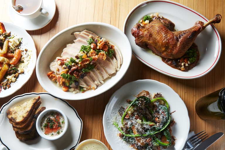 View of Houseman's four course Thanksgiving menu.