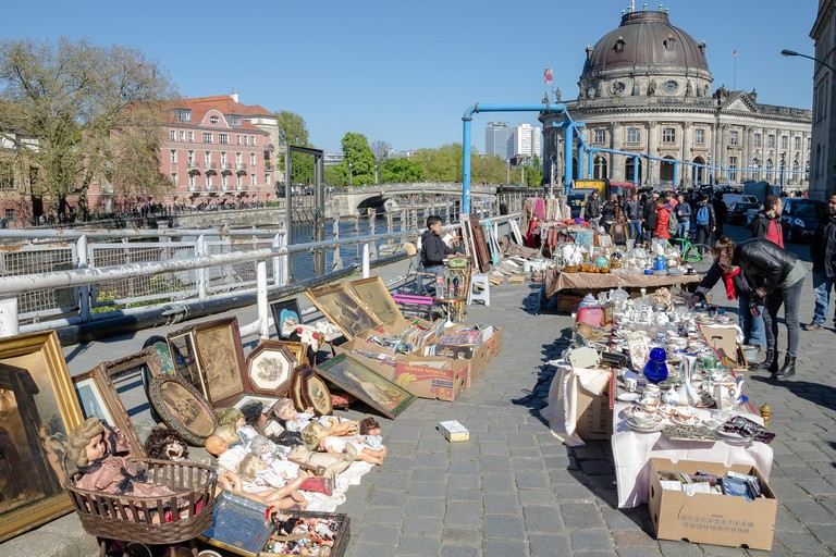 The antique and book market is located on Museum Island