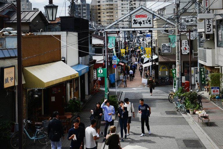 Yanaka Ginza, located in Yanesen, presents visitors a different side of Tokyo