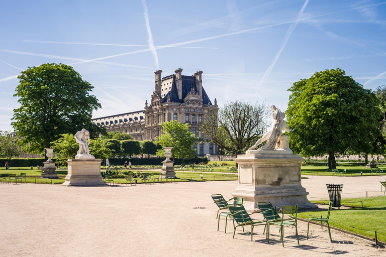 View of the Tuileries garden in Paris
