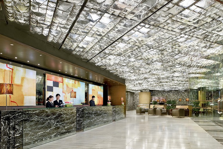 The sparkling lobby at The Kowloon Hotel