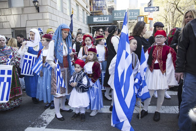 Greek Independence Day Parade in New York City.