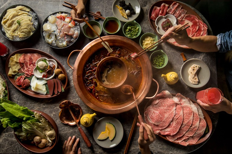 One of the finest Sichuan hotpot houses in New York City, Tang Hotpot has a distinguished mural in the centerpiece of the dining area and is comprised of a prestigious selection of quality meat and wine.