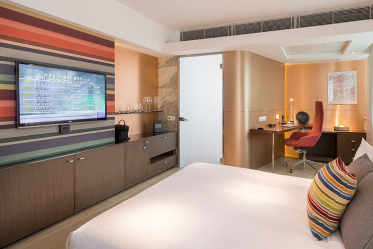 Ovolo Central's rooms include a study nook, Apple TV, Biology toiletries and complimentary bottled water