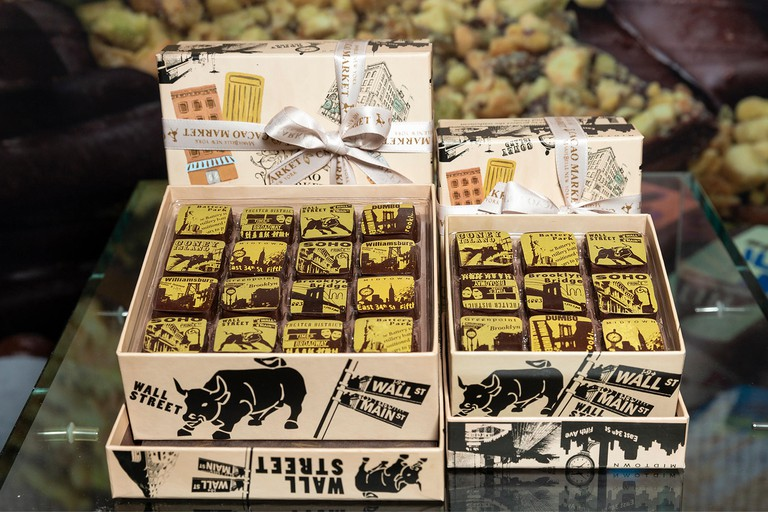 New York, United States. 30th June, 2018. Chocolate products by Marie Belle of Brooklyn on display during New York 2018 Summer Fancy Food Show at Jacob Javits Center Credit: Lev Radin/Pacific Press/Alamy Live News