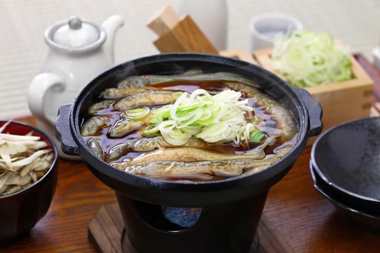 Order the dojō nabe at Komakata Dozeu
