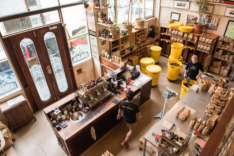 Havana Coffee Works is a roastery, shop, and coffee bar located in central Wellington