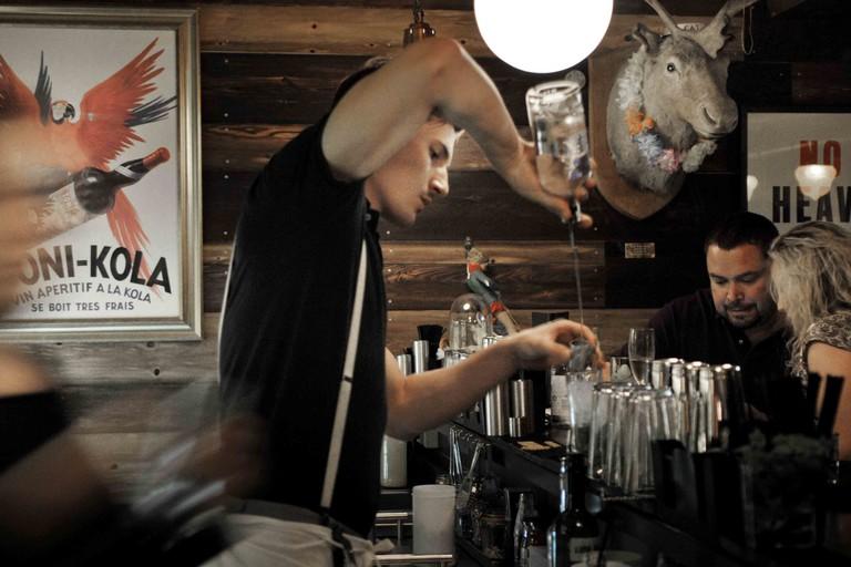 The Mayor of Scaredy Cat Town Cocktail Bar, Spitalfields, London, Britain - Jun 2013
