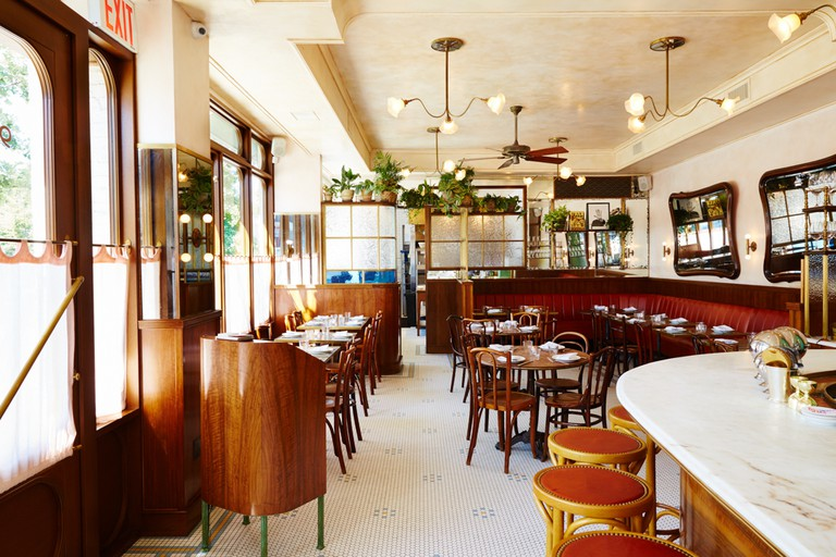 The Maison Premiere team is behind this Greenpoint restaurant known as a French accented American fare and cocktails.