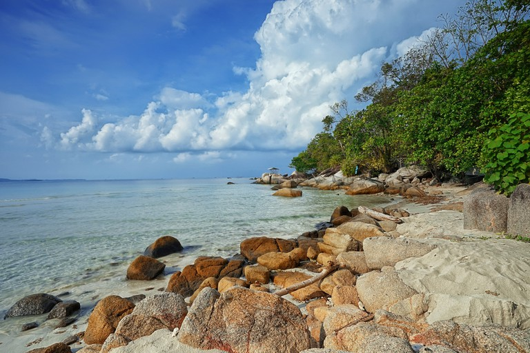 Trikora beach at Bintan Island