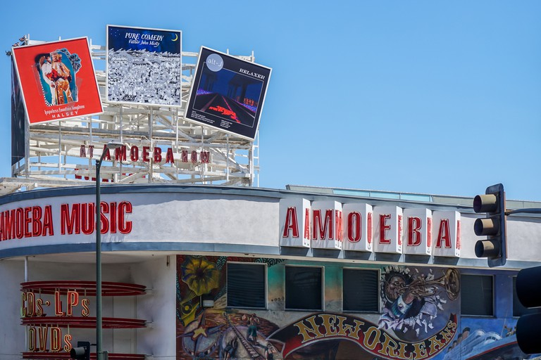 Amoeba music record store in Hollywood, Los Angeles (Editorial use only)
