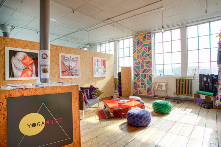 Yogarise offers sessions on the rooftop of Peckham's Bussey Building
