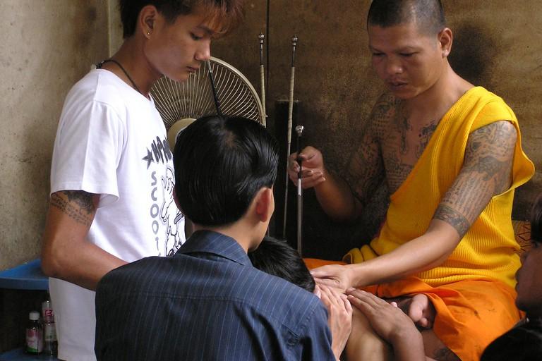Wat Bang Phra temple in Thailand