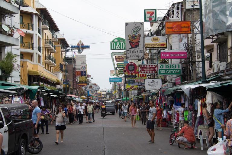 Khao San Road in Bangkok, Thailand