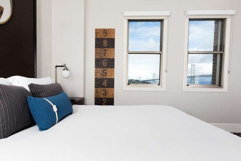 Each room at the Harbor Court Hotel is equipped with a yoga mat